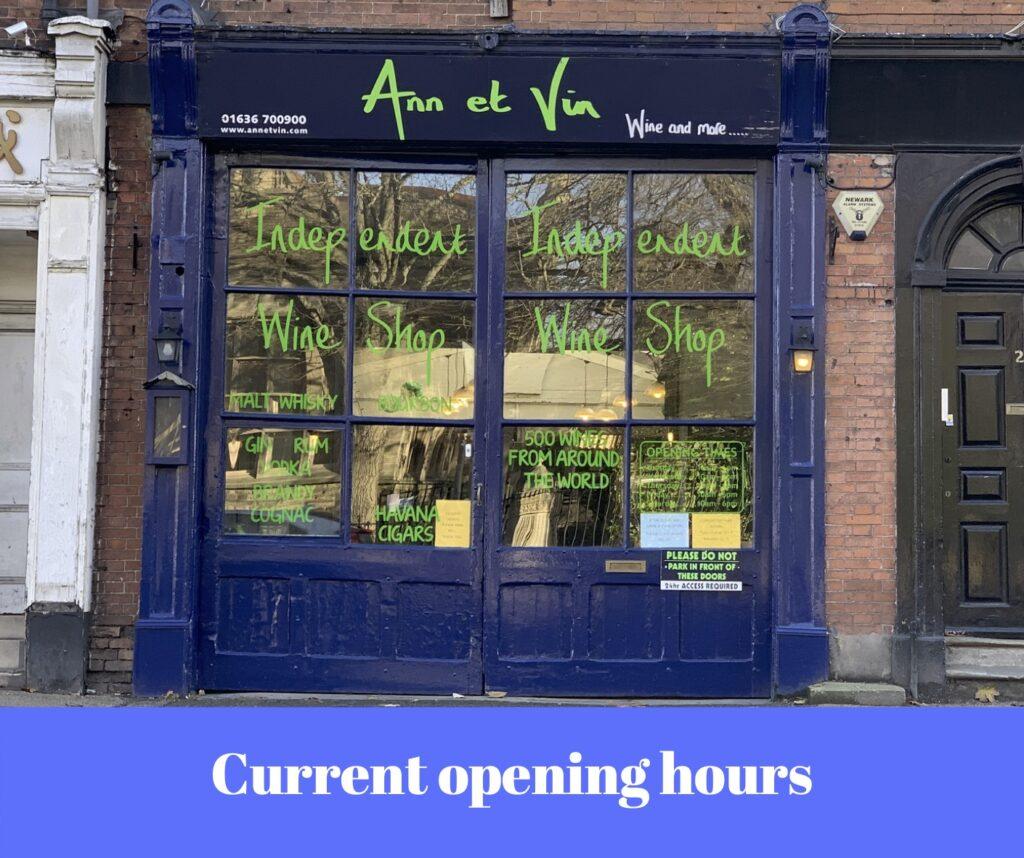 Ann et Vin opening hours